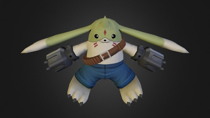 PC Computer - Digimon Masters - Gargomon 3D Model