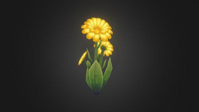 Yellow Flower 3D Model
