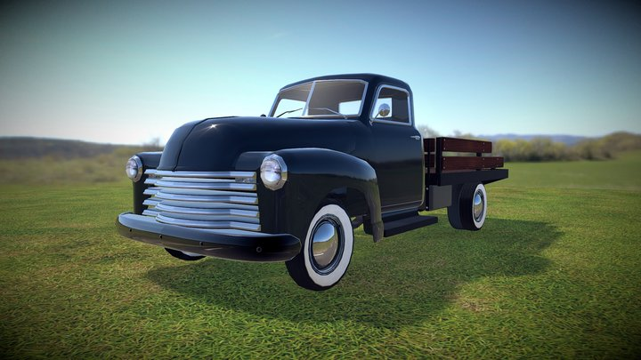 1951 Chevy Truck with Flatbed 3D Model