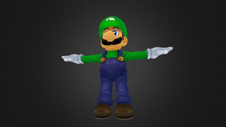 Super Smash Bros. Melee Luigi 3D Model