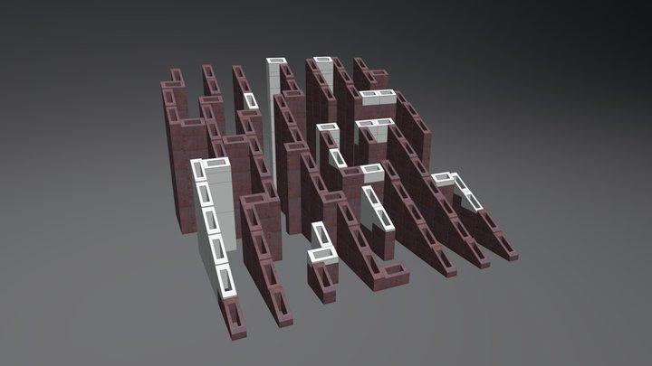 Fontanna Labirynt 3D Model