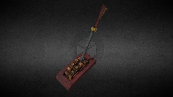Steampunk Lever 3D Model