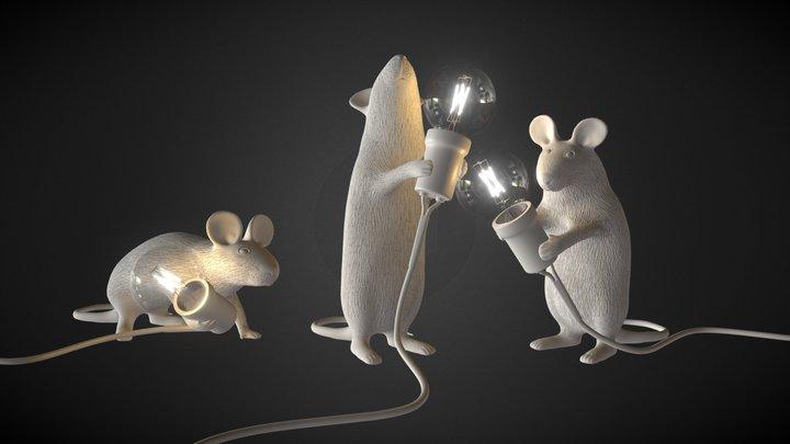 SELETTI Mouse Lamps 3D Model