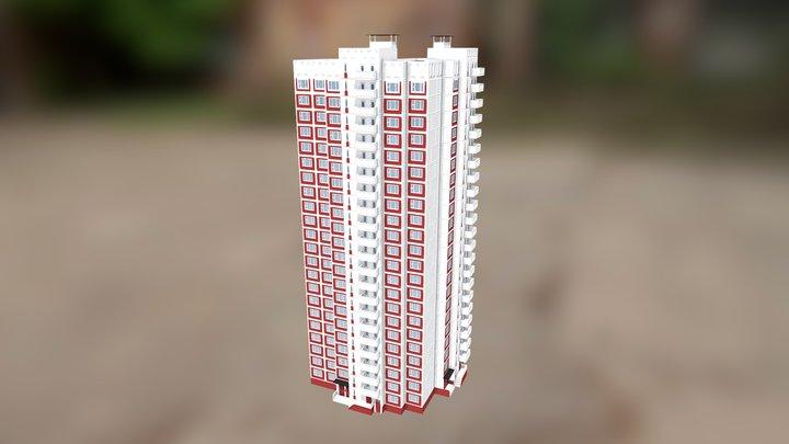 Типовой дом КОПЭ, угловой блок 3D Model