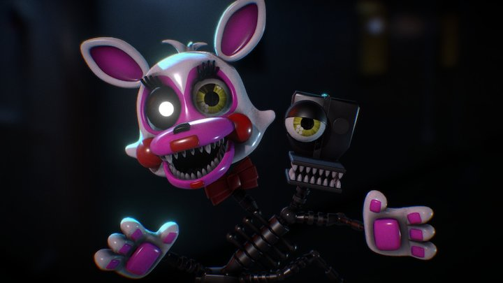 FNAF WORLD MANGLE 3D Model