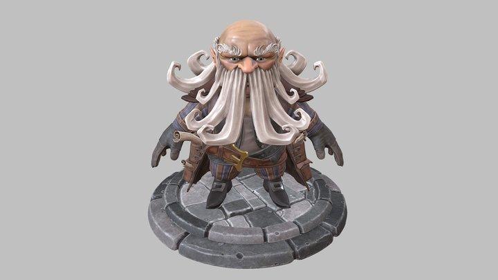 Elder Dwarf 3D Model