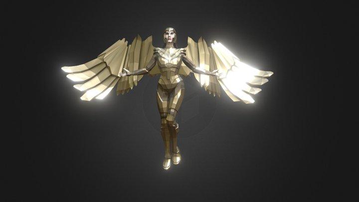 Golden Warrior Wonder Woman (Gal Gadot) 3D Model