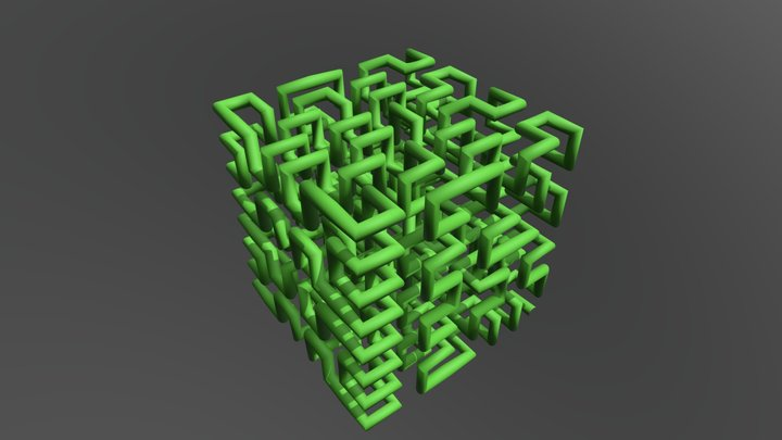 Hilbert 3D Curve 3D Model