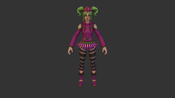 Zoey Outfit 3D Model