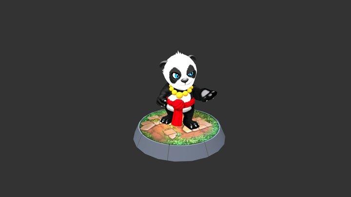 The Shaolin Panda 3D Model