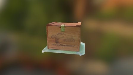 Vintage Wooden Wild Turkey Crate 3D Model