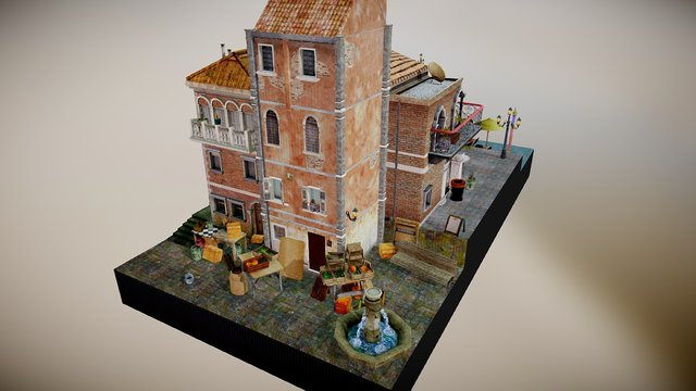 City Scene Venice FINAL 3D Model