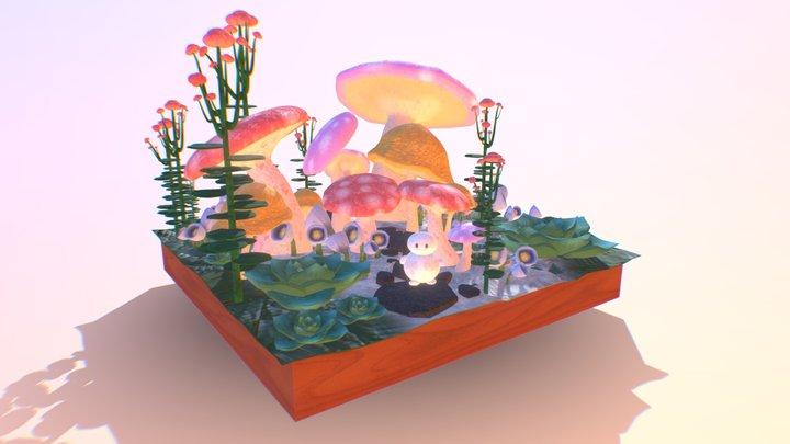 Diorama_Mushroom Forest Dream 3D Model