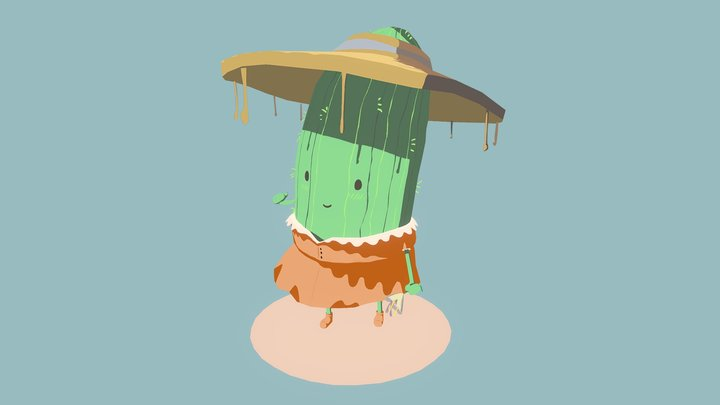 Friendly Cactus 3D Model