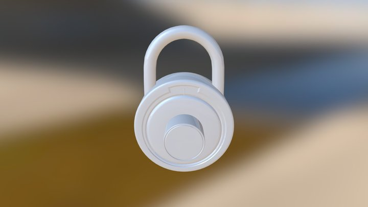 Number Lock 3D Model