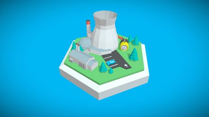 Power plant, level two 3D Model