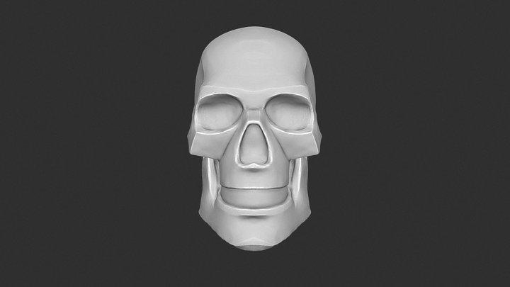 Skull Planar 3D Model