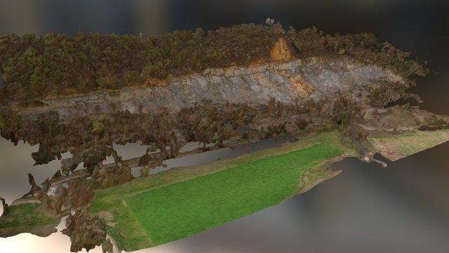 3D-Modell Erdrutsch - modello 3D frana 3D Model