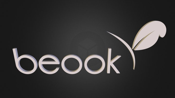 beook_logo_3D_3 3D Model