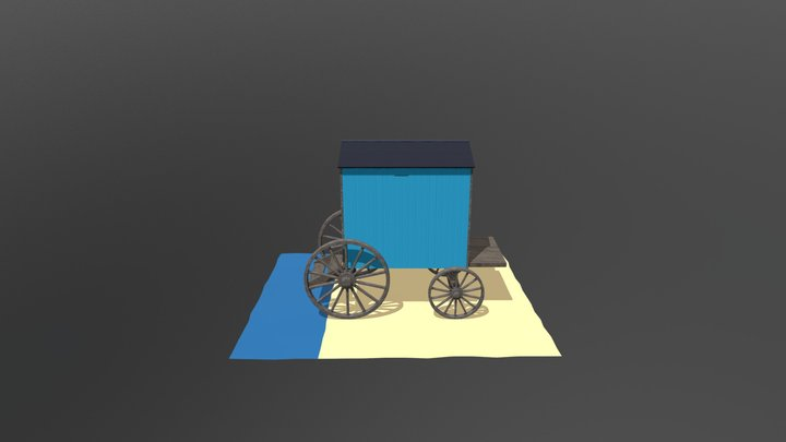 Minehead Bathing Hut 3D Model
