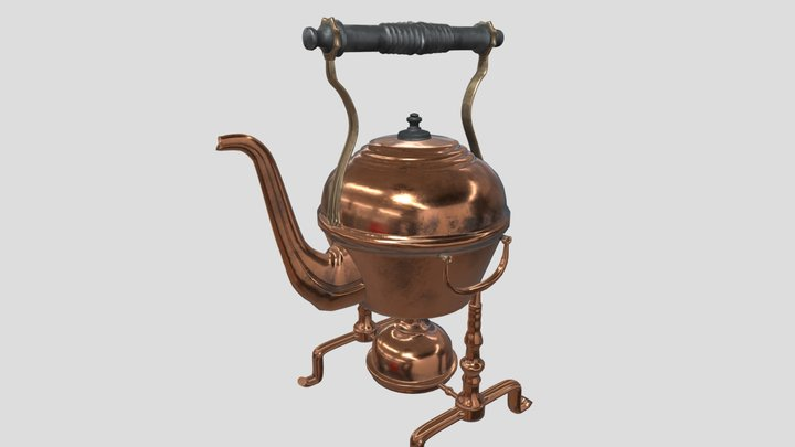 Victorian kettle 3D Model