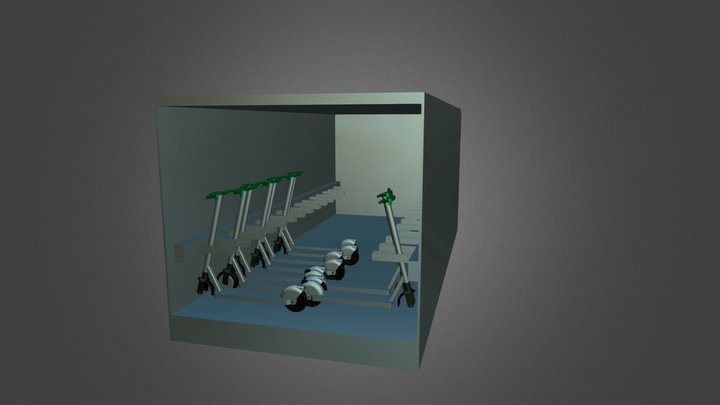 Scooter Storage Container 3D Model