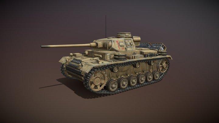 PzKpfw III - Panzer 3 - Ausf.J - DAK - 1 3D Model