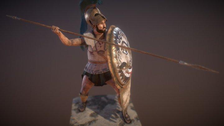 Hoplita griego de las guerras médicas (s.V a.C.) 3D Model