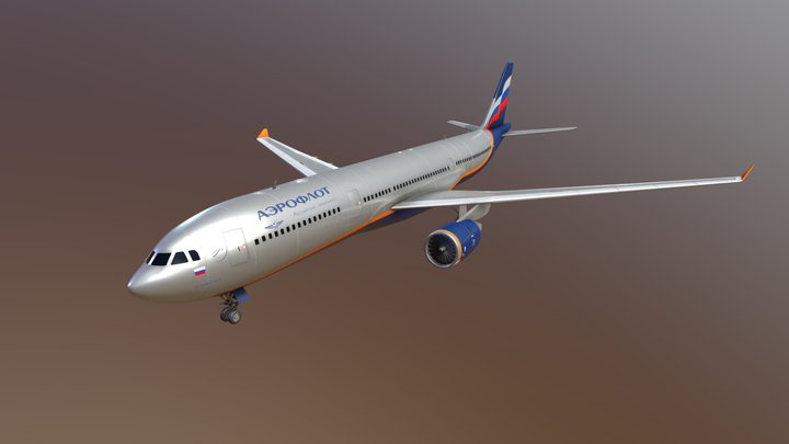 Airbus A330 Aeroflot 3D Model