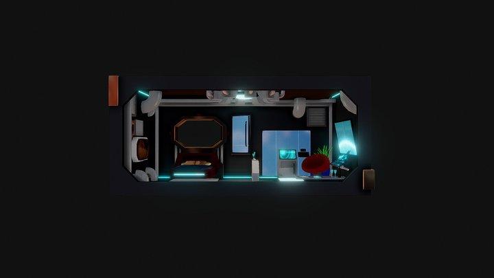 Sci-Fi Room 3D Model