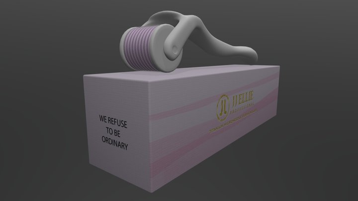 Pink With Gold Foli 3D Model
