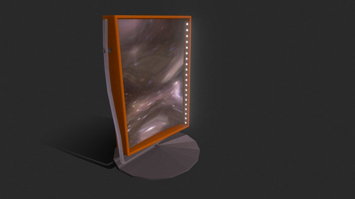 #6 - Reflection. Curved Mirror 3D Model