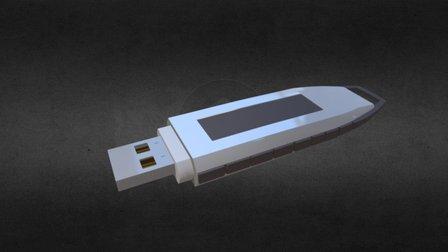 USB FlashDrive 3D Model