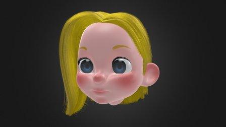 Judy Hair Animation 3D Model