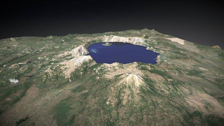Crater Lake, Oregon, USA (x2) 3D Model