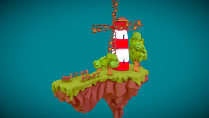 Flying windmill 3D Model