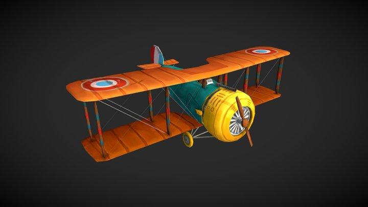 SALMSON 2 A2 - Flying Circus 3D Model