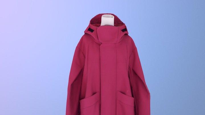 Distopia Coat (RED) 3D Model
