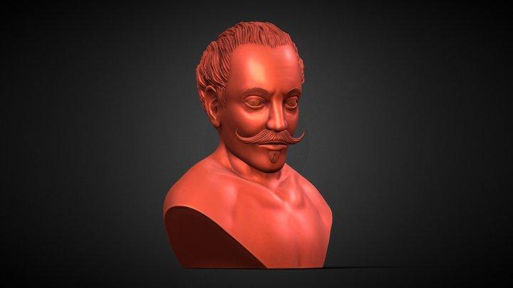 Ittarius clay bust 3D Model