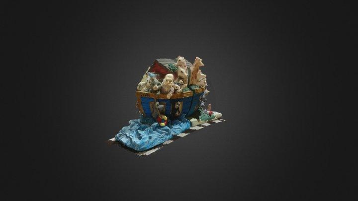 Noah's Ark Book Ends 3D Model