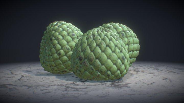 Custard Apple 3D Model