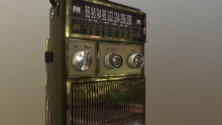 Vintage Juliette Radio 3D Model