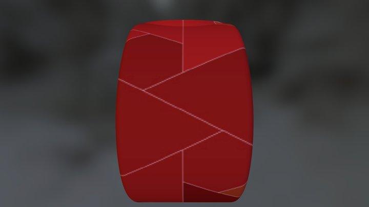 Tenvas - REDtangle watch 3D Model