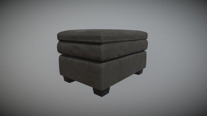 Leather Ottoman 3D Model