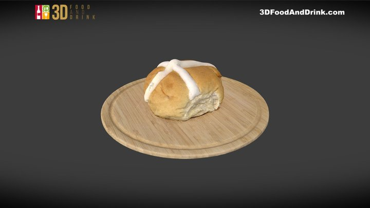 Hot Cross Bun 3D Model