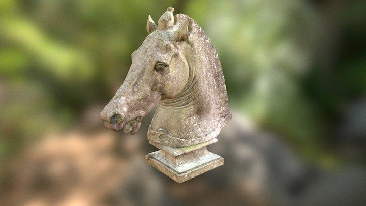 Equestrian Head Statue 3D Model