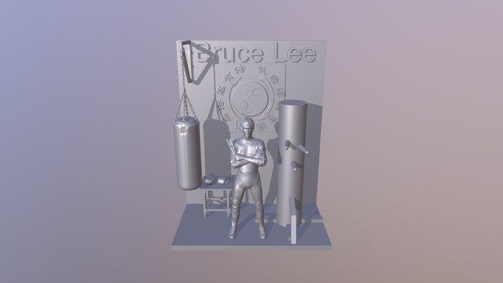 Scene Bruce Lee 3D Model
