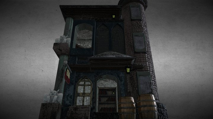Diagon Alley Themed Bookstore 3D Model