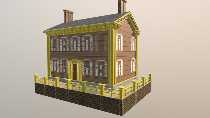 Lincoln's House 3D Model