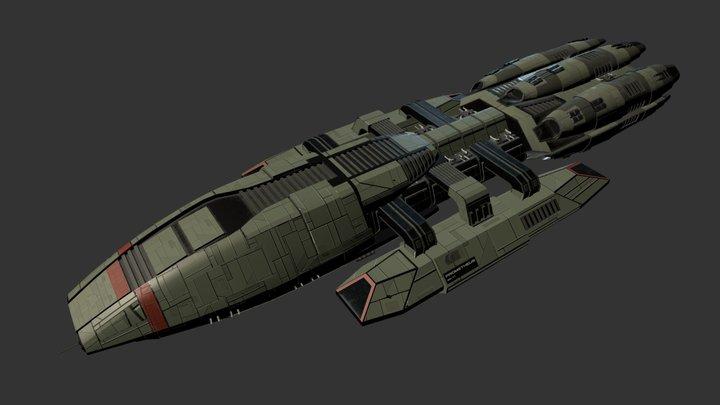 Battlestar Prometheus 3D Model